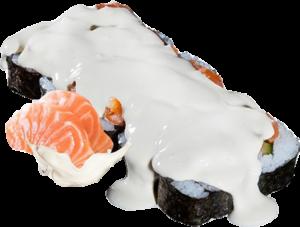 Ролл в сливочном соусе с лососем