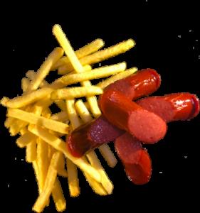 Картошка Фри с КОЛБАСКАМИ